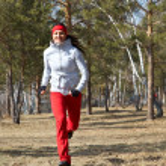 Running Beautiful woman — Stock Photo #9901859