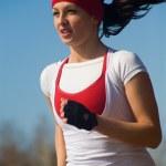 Running beautiful woman — Stock Photo #9901932