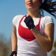 Running beautiful woman — Stock Photo #9901945