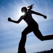 Runner silhouette — Stock Photo