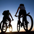 Couple on bicycles - Stock Photo