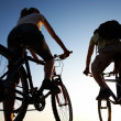 Stock Photo: Couple on bicycles