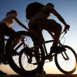 Couple on bicycles — Stock Photo #9902572
