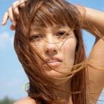 Beautiful young woman in bikini — Stock Photo #9902816