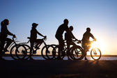 Group on bicycles — Stock Photo