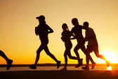 Group of runners — Stock Photo