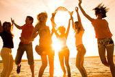 Party am strand — Stockfoto