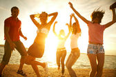 Party on beach — Stock Photo