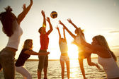 Volleyball on the beach — Stock Photo