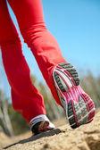 Legs of runner — Stock Photo