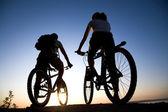 Bisiklet üzerinde çift — Stok fotoğraf