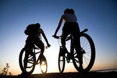 Couple on bicycles — Stockfoto