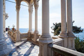Columns of Miramare castle, Trieste — Stock Photo
