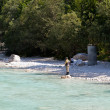 Fisherman in the Soca river, Slovenia — Stock Photo #10647999