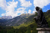 Statue of Julius Kugy, Julian Alps — Stock Photo