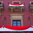 Balcony with drape — Stockfoto #7968860
