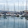 Lots of boats in Gijon port, — Stock Photo