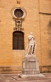 Statue of Alfonso the chaste — Stock Photo