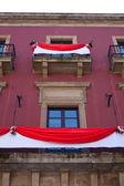 Balcón con cortina — Foto de Stock