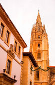 Bell tower of Oviedo cathedral — Stok fotoğraf