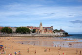 In the beach of Gijon — Stock Photo