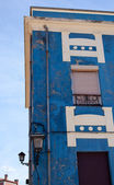 Blue house in Gijon — Stock Photo