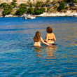 Stock Photo: Bathers, Kefalonisea