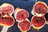 Open figs — Stock Photo