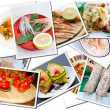 Stock Photo: Food postcards