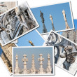 Milan cathedral, photos collage - Stock Photo