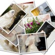Wedding photos collage — Stockfoto