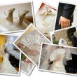 Wedding photos collage — Stock fotografie