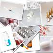 Stock Photo: Collages with medicines photos