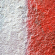 Stock Photo: Red color on wall