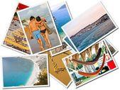 Sea holiday, Photos collage — Stock Photo