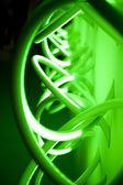 Green neon light — Stock Photo
