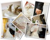Wedding photos collage — Stock Photo