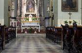 Interior of a Trieste church — Stock Photo
