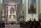 Interior of a Trieste church — Stock Photo