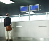 Information counter, Airport terminal — Stock Photo