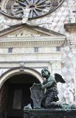 Sculpture on the gate of the Basilica of Santa Maria Maggiore, B — Stock Photo