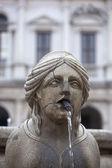 The Contarini fountain, Bergamo Alta — Stock Photo