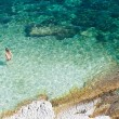 Bathers, Agia Efimia sea Kefalonia — Stock Photo