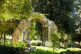 Ruins of an Arc in the Park in Oviedo — Stock Photo