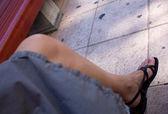 Gamba di una donna — Foto Stock