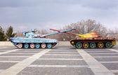 Hippy tanks in Kiev, Ukraine — Stock Photo