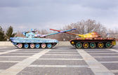 Hippie tanks in kiev, oekraïne — Stockfoto