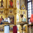 Interior of a Orthodox church in Kiev — Stock Photo