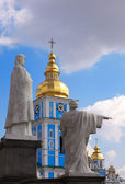 Statue, St Michael cathedral, Kiev — Stock Photo