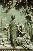 Jesus, Relief on Milan cathedral door — Foto Stock